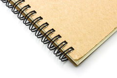 Closeup notebook background Royalty Free Stock Photos