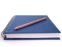 Closeup notebooks and pencil Royalty Free Stock Images