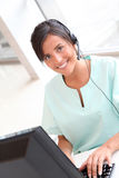 Closeup of nurse on the phone Stock Images