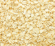 Closeup of oat flakes as background Stock Photo