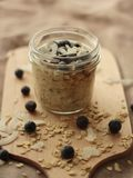 Oatmeal in a jar royalty free stock images