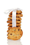 Closeup Oatmeal raisin cookies Royalty Free Stock Images