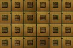 Closeup of obsolete CPU Computer Processor. Background. Aligned obsolete CPU Computer Processor Royalty Free Stock Photography
