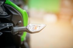 Modern  turn light motorcycle. Stock Image