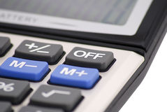 Closeup Of A Calculator Keyboard. Royalty Free Stock Photo