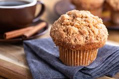 Closeup Of A Cinnamon Muffin Royalty Free Stock Photos