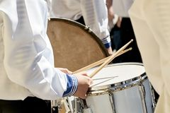 Free Closeup Of A Drummer In A Brass Band. Royalty Free Stock Images - 120214289