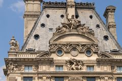Free Closeup Of A Louvre Museum Stock Photography - 124732712