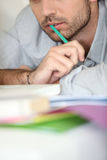 Closeup Of A Man Working Royalty Free Stock Image