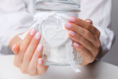 Free Closeup Of Beautiful Baby Pink Nails Stock Photo - 67912530