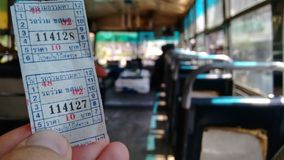 Free Closeup Of Bus Ticket In Bangkok Stock Images - 68332654