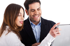 Free Closeup Of Business People With Laptop Stock Image - 12267201