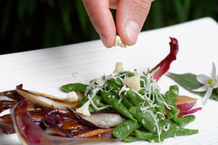 Free Closeup Of Chef Adding Finishing Touch Royalty Free Stock Images - 31032739