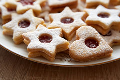 Free Closeup Of Christmas Linzer Cookies Royalty Free Stock Photo - 47856555