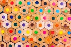 Closeup Of Coloured Pencils Stock Image