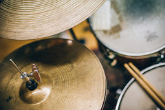 Free Closeup Of Drumsticks Lying On The Drum Set Stock Images - 96154454