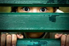 Free Closeup Of Face And Eyes Of Sick Girl,asian Little Child Sneak Peek,peeping Spying Eyes,suspiciously Young Woman Feeling Afraid Royalty Free Stock Photos - 156640458