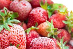 Free Closeup Of Frozen Many Red Strawberries With Frost Royalty Free Stock Photos - 118976188