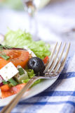 Closeup Of Greek Salad Royalty Free Stock Images