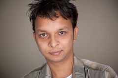 Closeup Of Handsome Indian Young Man Stock Photo