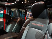 Free Closeup Of Leather Seats Of A Jeep Displayed At The Chicago Auto Show Stock Image - 195123771