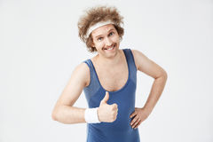 Free Closeup Of Man Showing Thumb Up Gesture, Smiling, Looking Straight Stock Images - 90355614