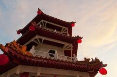 Closeup Of Oriental Tower Stock Image