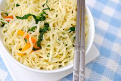 Closeup Of Oriental Vegetarian Noodles