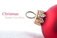 Free Closeup Of Red Christmas Ball Stock Photo - 22023460