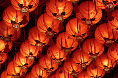 Closeup Of Roof Full Of Chinese Lanterns Royalty Free Stock Photos