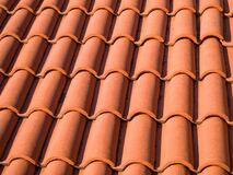 Free Closeup Of The Red Clay Roof Tiles. Shingles. Old And Used Overlapping Red Classic Style Roofing Material Texture Stock Image - 173680441
