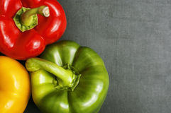 Free Closeup Of Three Bell Peppers Stock Photos - 43234223