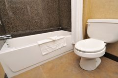 Free Closeup Of Toilet And Tub Royalty Free Stock Image - 20239996