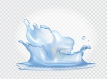 Closeup Of Water Splash On Vector Illustration