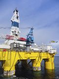 Closeup of offshore drilling rig in Gulf of Mexico, petroleum industry. Offshore drilling rig or platform in Gulf of Mexico, petroleum industry, closeup Stock Photography