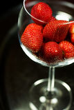 Closeup og Strawberry in glass Royalty Free Stock Image