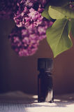 Closeup of oil from the fragrant flowers of lilac Stock Photography