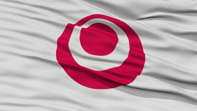 Closeup Okinawa Japan Prefecture Flag Royalty Free Stock Photography
