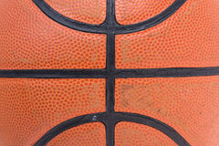 Closeup old basketball basket ball Royalty Free Stock Photos