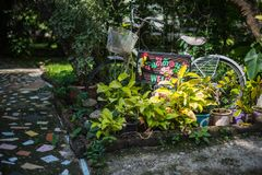 Closeup of garden decoration Royalty Free Stock Images