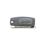 Closeup old black car key for car isolated on white background with clipping path Stock Photo
