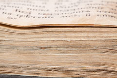 Closeup of old book Royalty Free Stock Photo