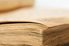 Closeup of old book Royalty Free Stock Photography