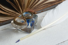 Closeup of old book Royalty Free Stock Photos
