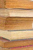 Closeup  old book pages texture. Royalty Free Stock Images