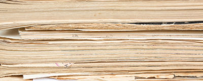 Closeup of old book pages texture background Stock Photo