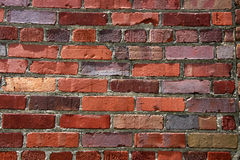 Closeup of an old brick wall. This old brick wall makes up the old general store at the Iowa State Fair. Great color variation in the bricks stock photos