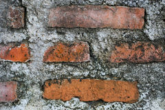 Closeup of old brick wall background Royalty Free Stock Photography