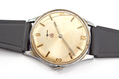 Closeup of old broken wristwatch Stock Photography
