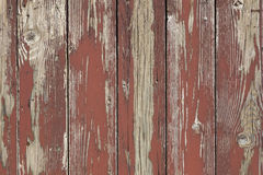 Closeup of old brown red planks with peeling paint Stock Photos